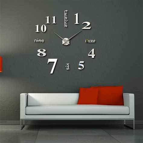 special large diy quartz  wall clock living room