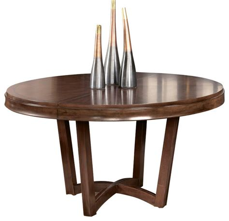 Bob Mackie Living Room Furniture by American Drew Miramar Round Dining Table In Auburn On
