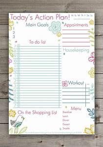 Daily Weekly Planner Cute Daily Planner Cute Hand Drawn Floral Planner Pdf