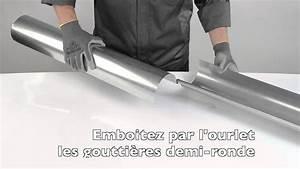 Gouttière Zinc Sans Soudure : comment emboiter 2 goutti res demi ronde entre elles youtube ~ Melissatoandfro.com Idées de Décoration