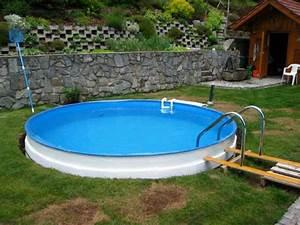 Einbau Pool Selber Bauen : stahlwandpool teilversenkt anleitung ~ Sanjose-hotels-ca.com Haus und Dekorationen