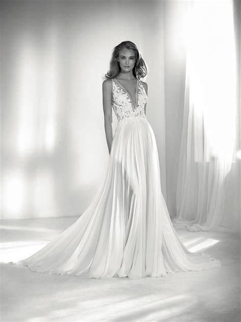 riada wedding dress  puts  neckline