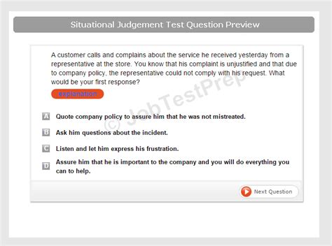administrative situational judgement test preparation