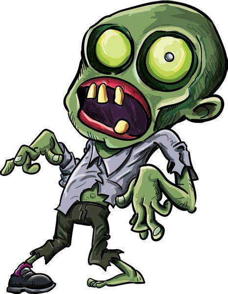 zombie clipart drawing cartoon pencil   color