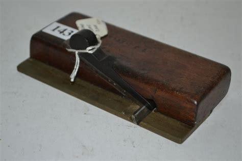 wood  brass rebate plane rare antique cabinetmakers