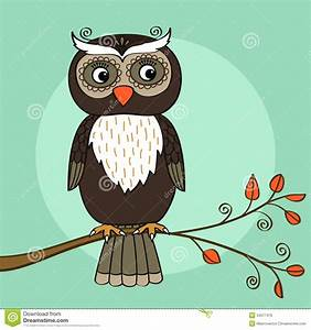Owl tree stock vector. Image of solitary, predator, i004 ...
