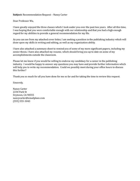 Sle Letter Requesting A Letter Of Recommendation by Best Photos Of Sle Email Request Letter Email Request