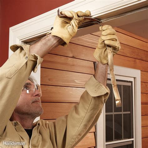 how to weatherstrip a door replace weather stripping the family handyman