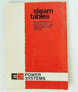 Details About Steam Tables Properties Of Saturated  U0026 Superheated Steam Mollier Diagram Vtg 60s