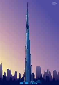 Dubai Burj Khalifa torre rascacielos Descargar Vectores