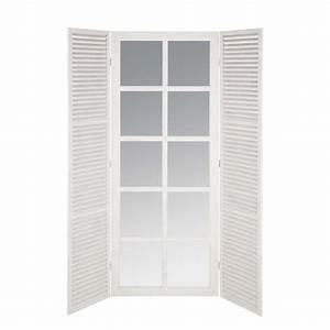 miroir fenetre en bois blanc h 200 cm riviera maisons du With miroir 200 cm