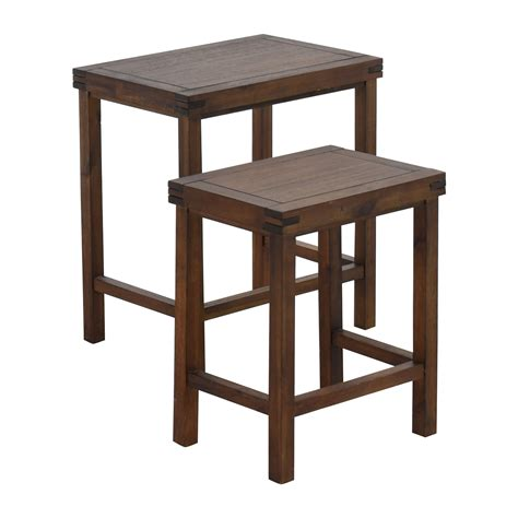 31% Off  Two Nesting Espresso Side Tables  Tables. Rustic Outdoor Table. Waterfall Console Table. Front Desk Clerk Responsibilities. Leaning Chair Standing Desk. Portable Treatment Table. Grey Chest Of Drawers Uk. Kitchen Table And Chair Sets. White Cocktail Table