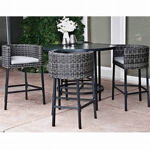 Patio furniture high top table and chairs marceladickcom for High top patio table sets