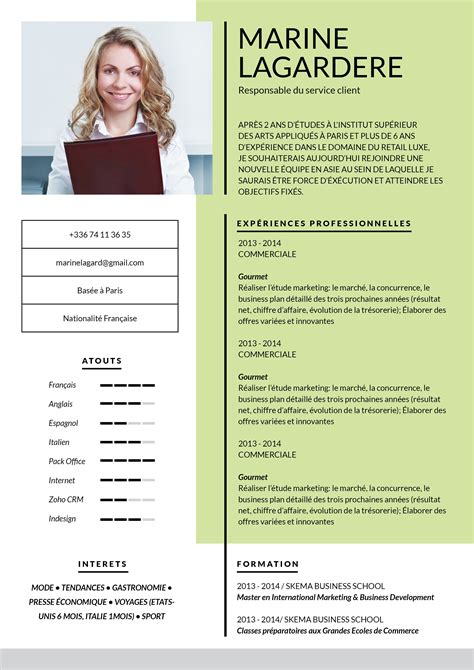 Cv Exemplaires by Exemple Cv Master Rh Pinte