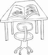 Desk Coloring Pages Drawing Template Education Getdrawings Freecoloringpagefun Chair sketch template