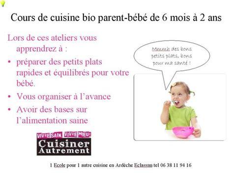 cours de cuisine bio atelier cuisine pour mon bébé le samedi 20 juillet ecole