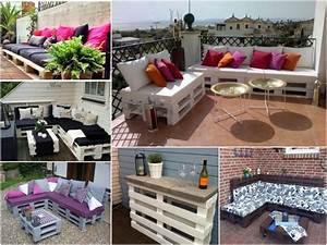 salon de jardin avec palette en bois cgrio With idee de terrasse exterieur 0 faire une terrasse en palette blog deco clem around the