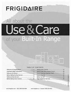 Frigidaire Cpgs3085kf2 Use  U0026 Care Manual Pdf Download