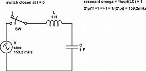 oscillator how does current go to infinity in an ideal With lc resonant circuit