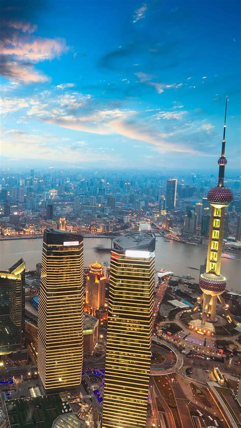 shanghai sunset iphone wallpaper hd