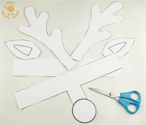 Reindeer Template Printable by Printable Reindeer Antlers To Colour And Wear