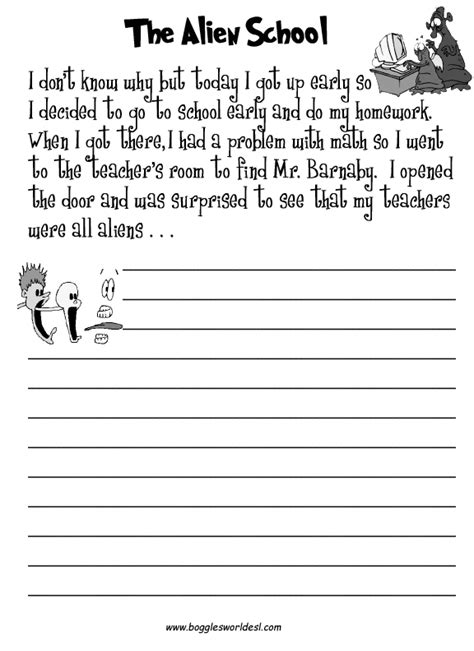 writing worksheets middle school 18 best images of middle school writing activities