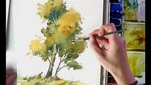 Mit Wasserfarbe Malen : einen baum aquarellieren english subtitles youtube ~ Watch28wear.com Haus und Dekorationen