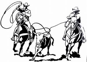 Teskey's Saddle Shop: Western Graphics Team Roping Decal