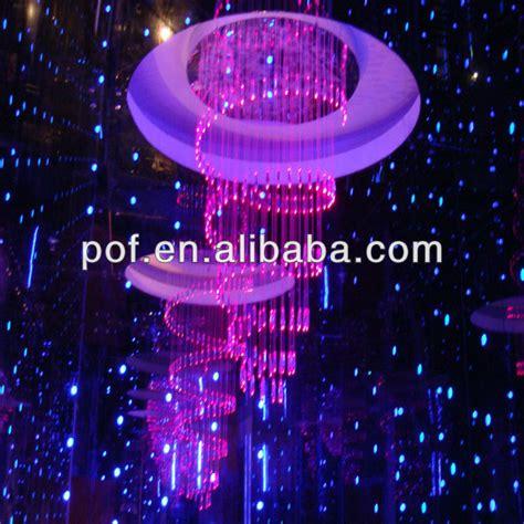 le a fibre optique multicolore plastique optial led moderne du lustre en fibre optique lumi 232 re multicolore d 233 coration lustre