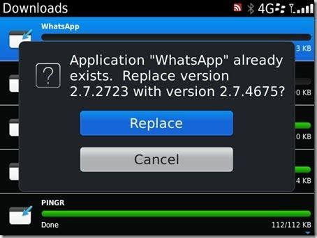 whatsapp for blackberry updated to v2 7 4675 blackberry