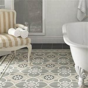 Sol Vinyle Imitation Carreau De Ciment : carreaux de ciment dans salle de bain eiffel art construction ~ Premium-room.com Idées de Décoration