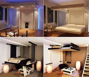 Lit Au Plafond Electrique : lit escamotable plafond lit with lit escamotable plafond ~ Premium-room.com Idées de Décoration