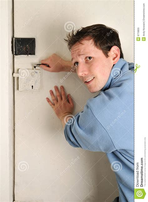 Man Locked Out Of Room Stock Image Image Of Back