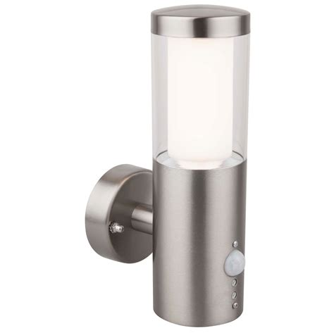 Bathroom Wall Lights B Q by Blooma Nomos Stainless Steel 6w Mains Powered External Pir