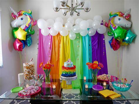 Unicorn Garden Decoration by Sylvi S Rainbow Unicorn Themed 4th Birthday I
