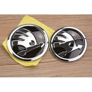 buy logo skoda 9 cms 8 cms front back emblem badge skoda superb octavia rapid fabia online get