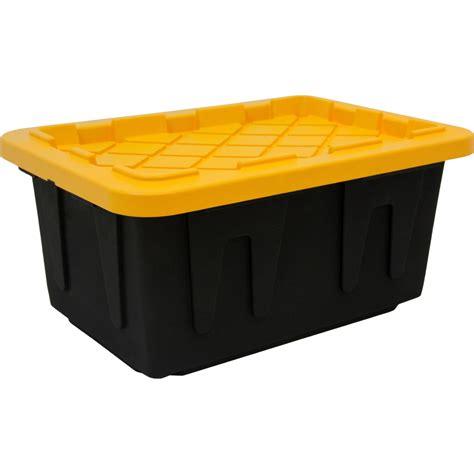 15gallon Storage Bins Tough Tote 6 X Plastic Boxes Homz