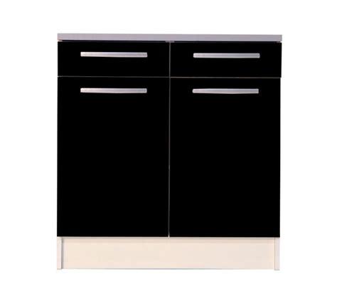 cuisine aubagne meuble bas de cuisine noir 80 cm 2 portes avec plan de
