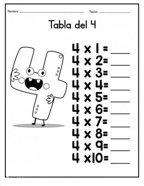 Simple Multiplication Tables | Worksheet School | Kids ...