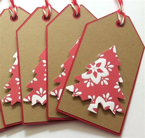 christmas gift tags kraft christmas tree gift tags set