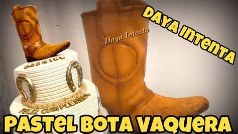 Decorado de Pastel Bota Vaquera con Herraduras YouTube