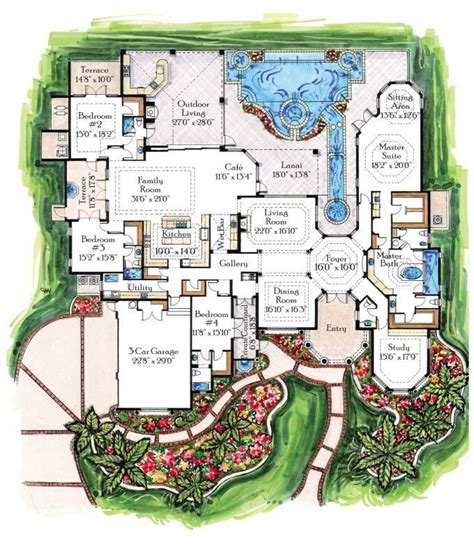 amazing floor plans breathtaking luxury contemporary tropical home floor plans