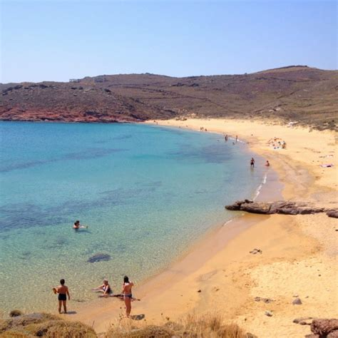 Mykonos Agios Sostis Beach Sof Pinterest