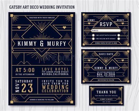 deco invitation templates great gatsby deco wedding invitation design template