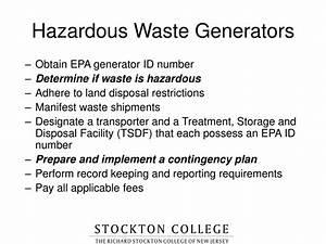PPT - HAZARDOUS WASTE TRAINING NJ Solid Waste Management ...