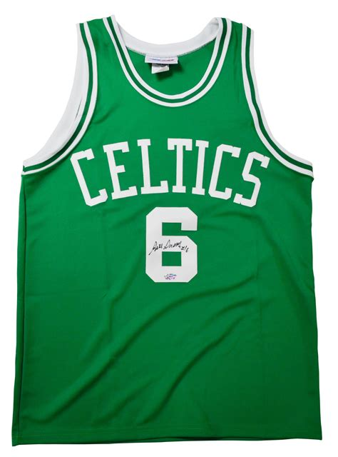 lot detail bill russell signed celtics jersey