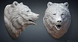 Bear Head 3d Model OBJ STL Files For 3D Printing