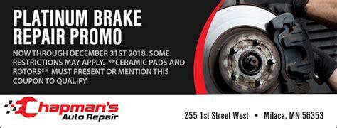 milaca mn auto repair tires shop chapmans auto repair