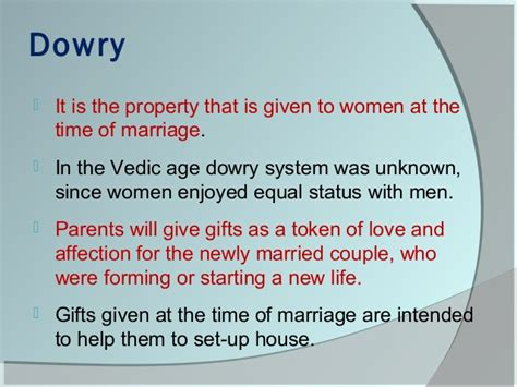 dowry definition family and marriage