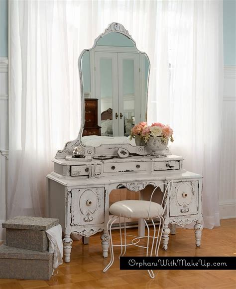 shabby chic vanity orphans with makeup antique vanity quot chippy goodness quot achieved with homestead house milk